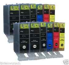 12 COLOR CARTUCHOS PARA CANON PGI-520 CLI-521 cli520 pgi520 con Chip MP Serie MG