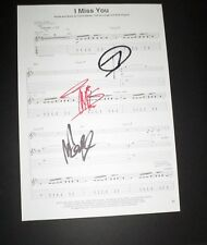 Blink 182 Hand Signed Sheetmusic I Miss You x3