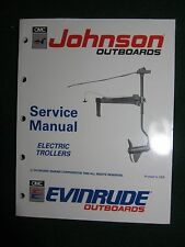1991 Johnson Evinrude Electric Trollers Service Manual 12V 24V Bow Transom EI