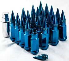 "20"" 12X1.25 Aodhan XT92 SPIKED Lug Nuts BLUE FIT NISSAN 240SX S13 S14 S15 300ZX"