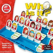 WHO IS IT? BOARD GAME GUESS WHO YOUR PLAYER IS TRADITIONAL KIDS GAME FULL SIZE
