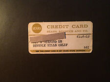 Sears Roebuck and Co 1961 Vintage Collectors credit card - Beverly Hills, Ca