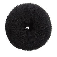 New Super Large Hair Donut Bun Ring French Rolls Black Brown Beig   6""
