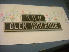 post office box house name plate address 308 glen ingledue doubled sided
