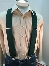 "New, Men's, Hunter Green, XXL, Adj. 2"",  Suspenders / Braces, Made in the USA"