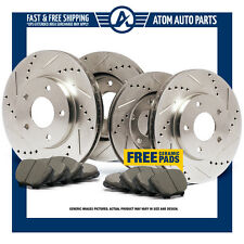(Front+Rear) Slotted Drilled Rotors & Ceramic Pads Trailblazer Rainier