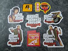 $$$$Grand Theft Auto Chinatown Wars Mini Pegatinas X 8 Rockstar Games $$$$$$$$