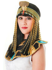 Oro Beaded ASP Casco Cleopatra Reina Del Nilo Egipcio Romano Fancy Dress