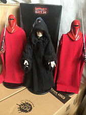 SIDESHOW STAR WARS THE EMPEROR AND CUSTOM ROYAL GUARDS 1/6 SAME AS HOT TOYS JEDI
