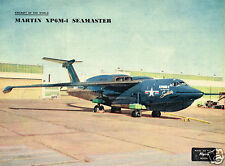 MARTIN XP6M-1 SEAMASTER: 1955 2-PAGE FEATURE INCL COLOUR PLATE TO FRAME