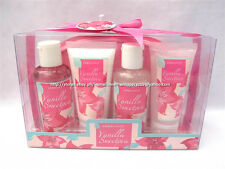 5% OFF + MILEY CYRUS TOP! 5-PC AROMANICE VANILLA SWEET PEA BATH KIT GIFT SET