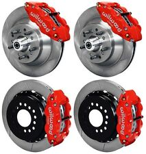 """WILWOOD DISC BRAKE KIT,70-78 GM,13"""" ROTORS,6 PISTON FRONT & 4 REAR RED CALIPERS"""