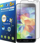 5x Clear LCD Screen Protector Guard Cover Skin Film Samsung Galaxy S5 S V i9600