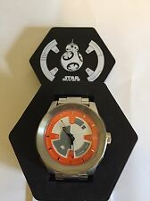 Nixon Star Wars Watch Corporal SS SW bb8 Silver/Orange Limited Edition Watch NEW