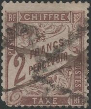 """FRANCE STAMP TIMBRE TAXE 26 """" TYPE DUVAL 2F MARRON 1884 """" OBLITERE A VOIR  K048"""