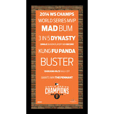 San Francisco Giants 2014 WS Champs Subway Sign w/ Authentic Dirt 9.5x19 Steiner