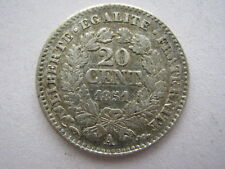 France 1851-A silver 20 Centimes, NVF.