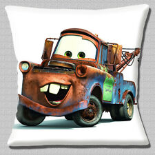 "CARS 2 CARTOON TOW TRUCK 'MATER' FILM CHARACTER PRINT 16"" Pillow Cushion Cover"