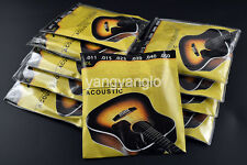 10 Sets of New 60L Acoustic Guitar Strings 1st-6th Steel Strings Promotion