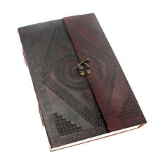 Indra Fair Trade Hefty Embossed Leather Journal Sketchbook 2nd Quality