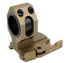 New (Tan) Tactical QD Mount Fits 25mm / 30mm bodies Scope or Magnifier