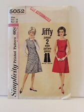 Simplicity 5052 Sewing Pattern 50s 60s Jiffy Jumper Dress A Line Size 18 38 Bust