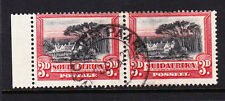 SOUTH AFRICA 1927-30 3d BLACK & RED SG 35 GOOD - FINE USED.