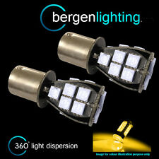 382 1156 BA15s 245 207 P21W AMBER 18 SMD LED REAR INDICATOR LIGHT BULBS RI201201