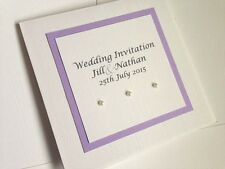 Pocketfold Wedding Invitation SAMPLE - LILAC Classic Pearls
