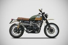 TRIUMPH SCRAMBLER 2015 2 1 FULL KIT EXHAUST BLACK GOLD EDITION ZARD ITALIA