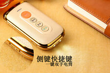 Luxury style senior flip cell phone with sos ,mp3,fm elderly mobile phone
