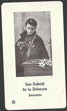 Estampa de San Luis Gonzaga andachtsbild santino holy card santini