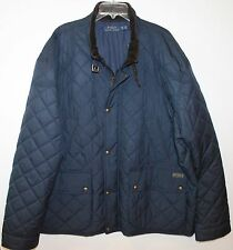 Polo Ralph Lauren Big and Tall Mens Navy Blue Quilted Down Jacket NWT 4XB