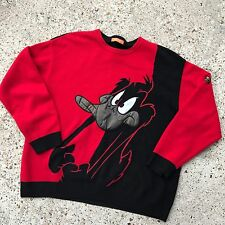 Vintage ICEBERG HISTORY Daffy Duck Long Sleeve Mens Sweater Italy