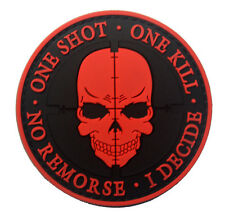 ONE SHOT Skull PATCH ARMY MORALE TACTICAL MORALE BADGE PATCH  SJK  620