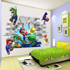 Cute Super Mario Wall Sticker Kids Room Removable PVC Wallpaper Decal Home Decor