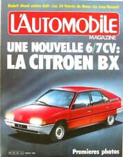 L'Automobile n°433 - 1982 -CITROEN BX-HONDA ACCORD-OPEL-VW -GOLF-BENTLEY-
