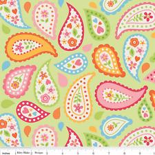 My Sunshine Paisley Fabric - Green - Riley Blake Fabric - Half yard