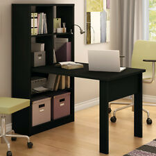 Bookcase Storage Writing Desk Table Black Home Living Room Bedroom Furniture