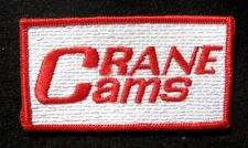 "CRANE CAMS EMBROIDERED SEW ON PATCH NASCAR RACING UNIFORM 3 4/8"" x 2"""