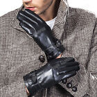 2015 Fashion Men's Driving Genuine Lambskin Leather Gloves For Men Motorcycle