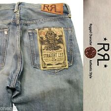 RRL Ralph Lauren Straight Leg Midland Wash Denim Selvedge Relaxed Jeans 29/32