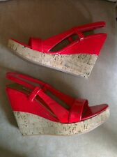 Miu Miu @ Prada bright red wedges and gold 36.5 UK 3.5 amazing
