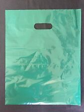 "100 12""x15"" GREEN Glossy Low-Density Plastic Merchandise Bags Wholesale lot Bags"