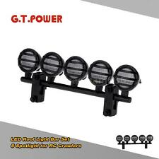 G.T.POWER LED Roof Light Bar Set 5 Spotlight for 1/10 RC Crawlers Black RH01