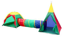 KIDS CHILDRENS PLAY TENT AND TUNNEL SET KID INDOOR OUTDOOR GARDEN FUN DOME HOUSE
