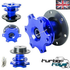 BLUE rapido Rilascio Snap Off VOLANTE HUB BOSS Kit FIT MOMO Sparco OMP