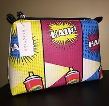 """KENNETH COLE REACTION """"Pop Hair"""" Multicolored Cosmetic Bag - NWT"""