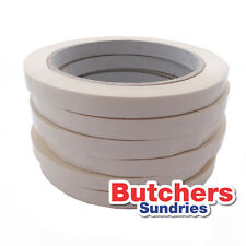 6 Rolls Of High Quality WHITE PVC Neck Bag Sealing Tape / Fruit / Veg / Meat