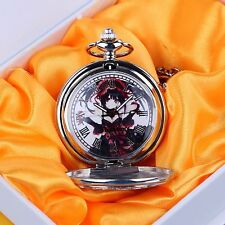 Christmas present,Anime DATE·A·LIVE Cosplay Tokisaki Kurumi Pocket Watch+box